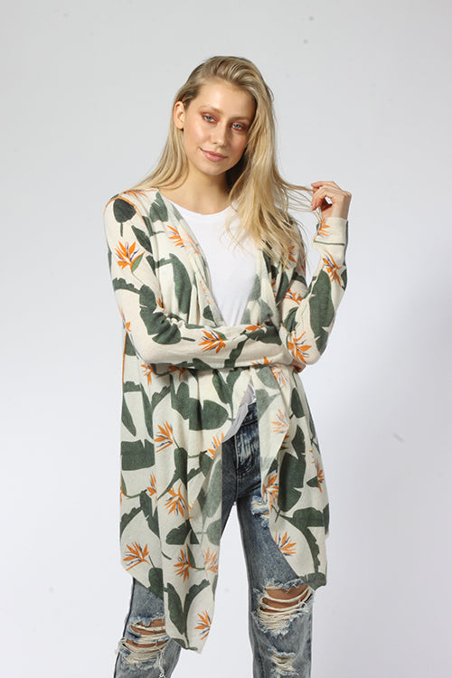 Birds of Paradise Open Cardigan - Knitwit