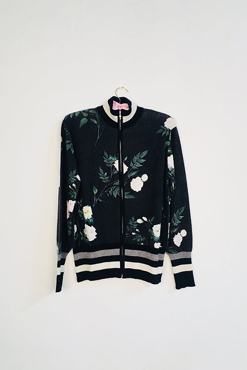 Nightshade Floral Track Jacket - Knitwit