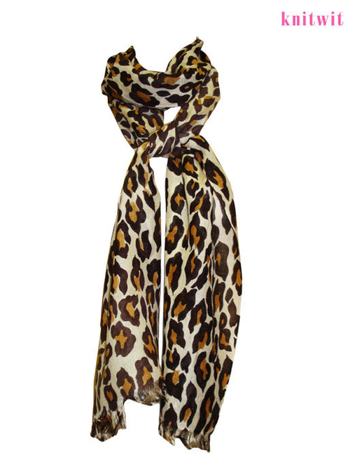 Exotic Leopard Print Scarf - Knitwit