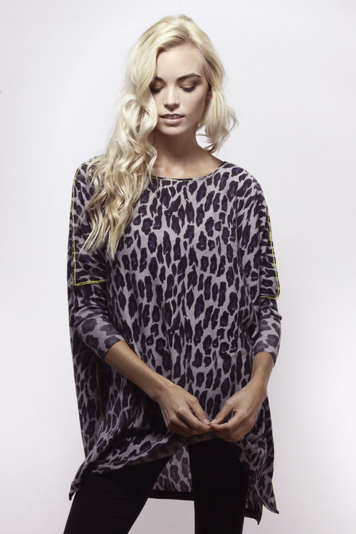 Snow Leopard Floaty Tunic - Knitwit