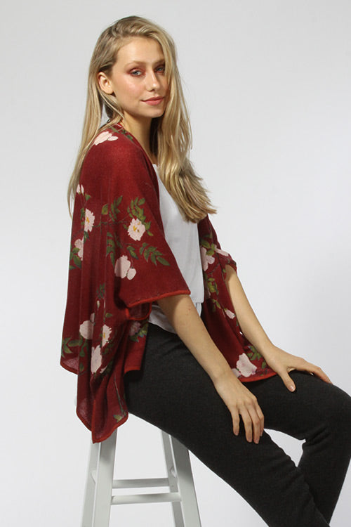 Belle Floral Kimono Cardigan - Knitwit