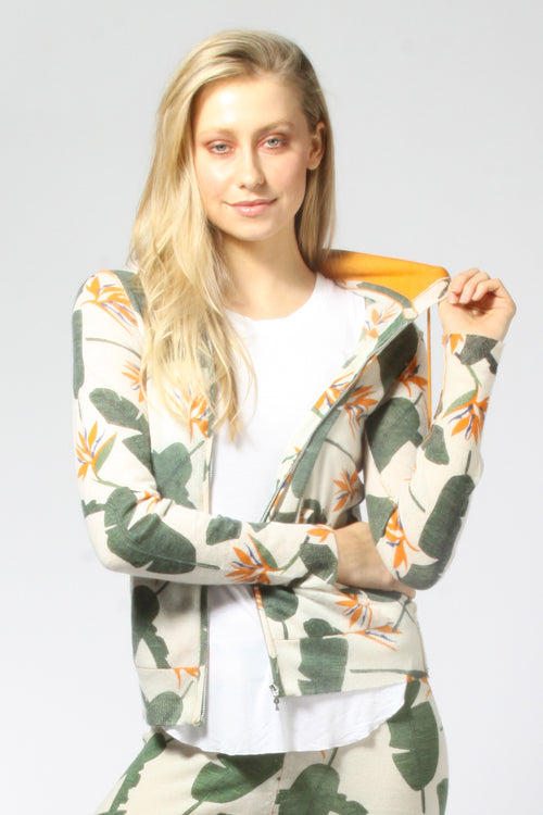 Birds of Paradise Zip Hoodie - Knitwit