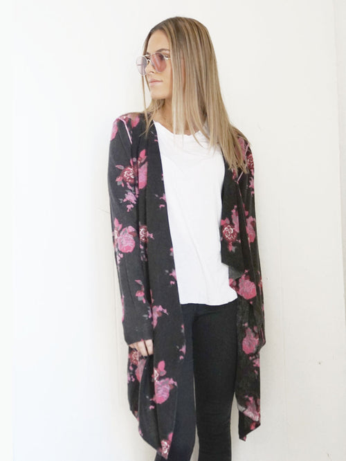 Evening Rose Open Cardigan - Knitwit