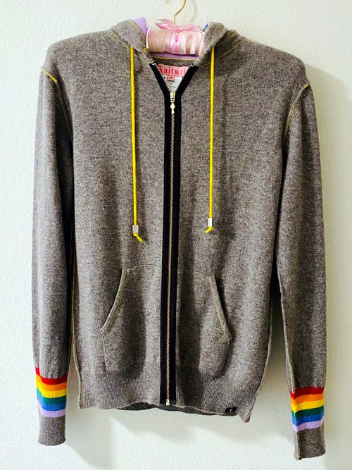 #1 Best Seller!! Black Rainbow Zip Hoodie