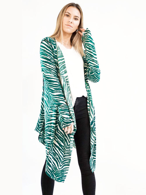 Green Zebra Open Cardigan - Knitwit