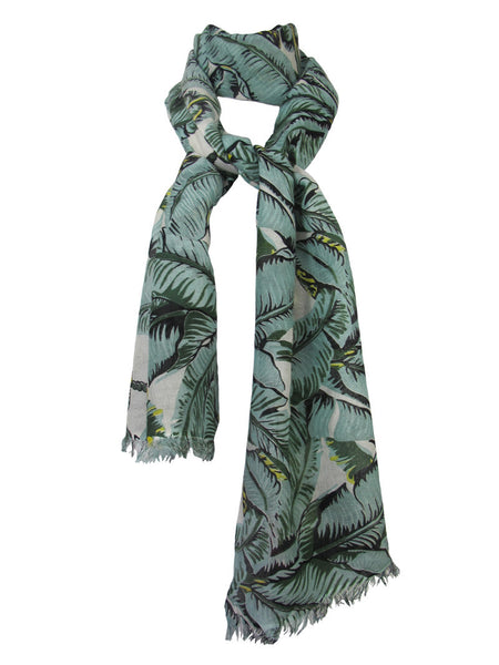 Indochine Print Lightweight Cashmere-Silk Scarf