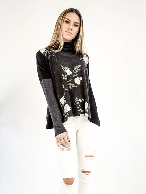 Nightshade Floral Turtleneck - Knitwit