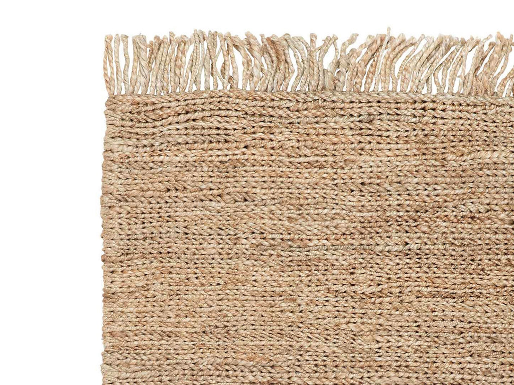 Handwoven Jute Rug with Tassels
