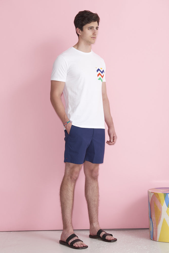 Multi-Colored Chevron T-Shirt