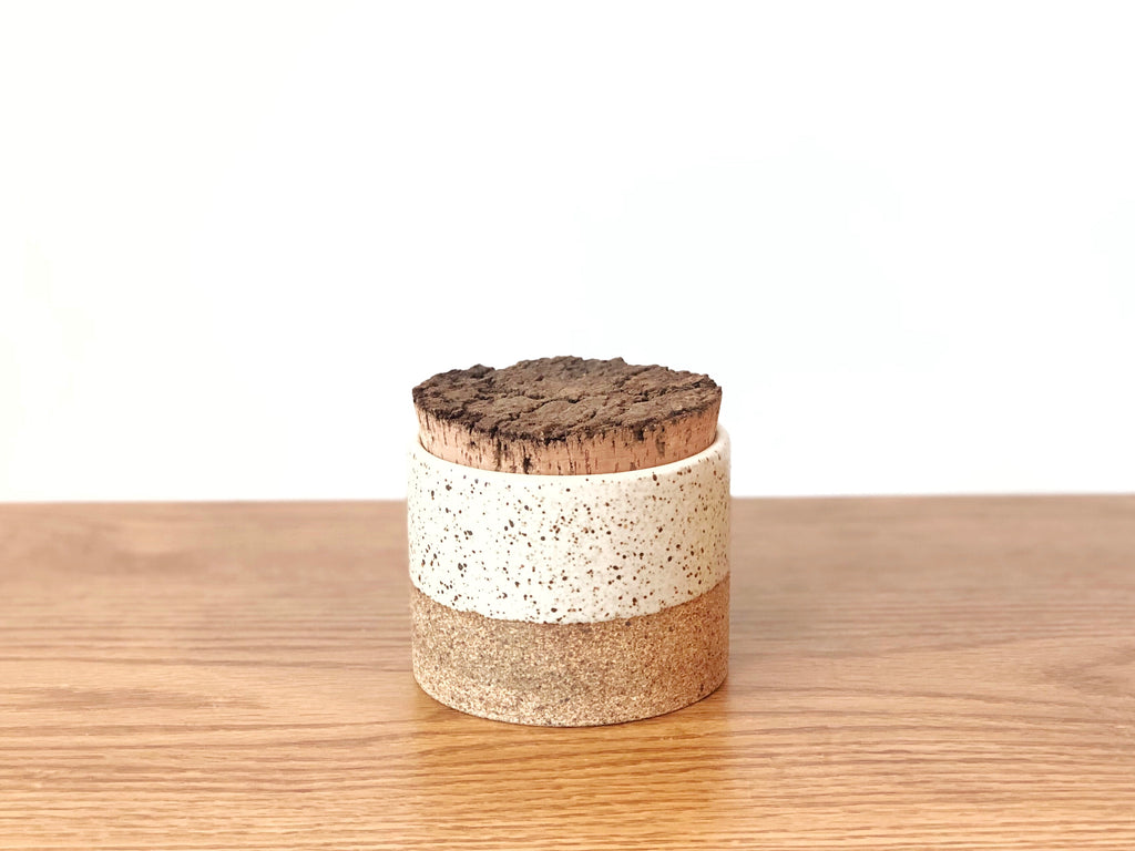 Ceramic Speckled Cannister Small