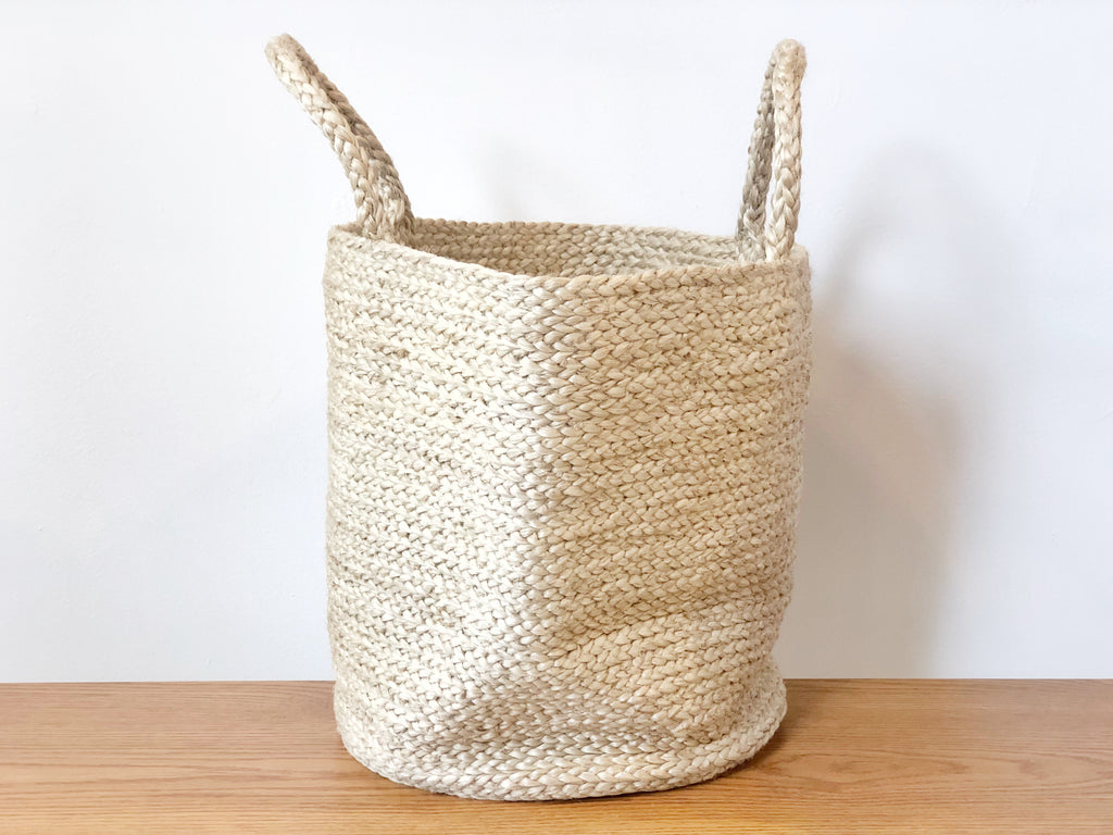 Handwoven Jute Basket Natural Tote