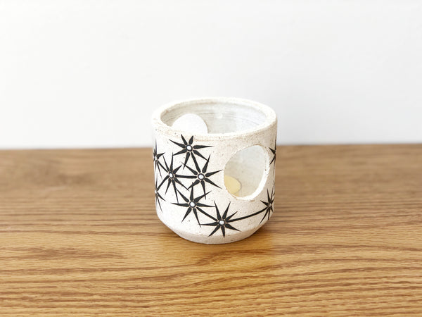 Hand-Painted Ceramic Tealight