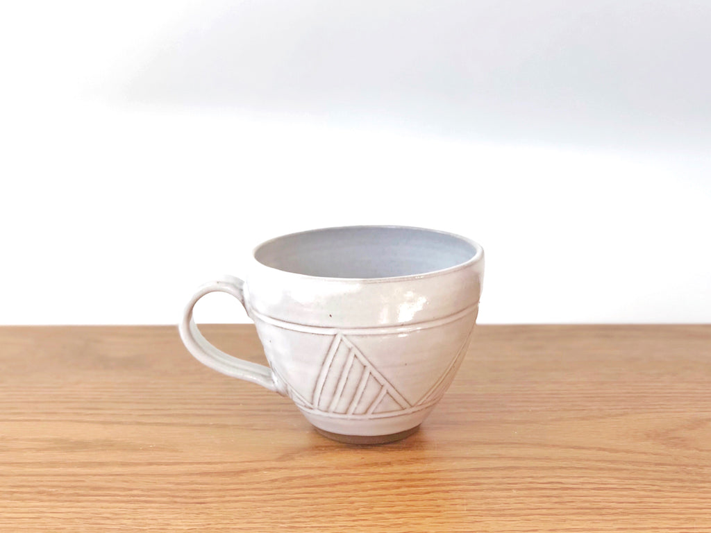 Ceramic Carved Mug