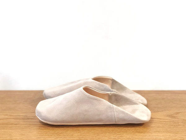 Suede Slippers - Grey