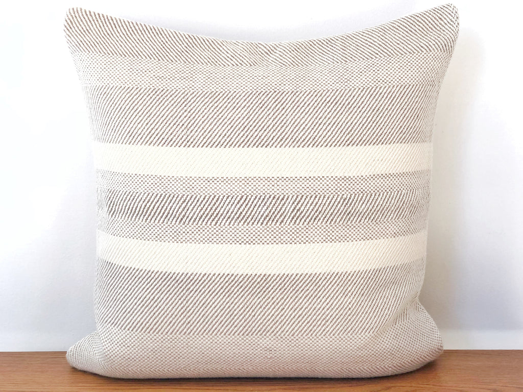 Handwoven Striped Merino Pillow - Large