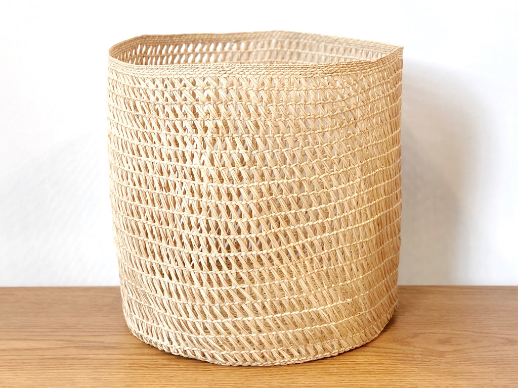 Handwoven Open Weave Basket - Large