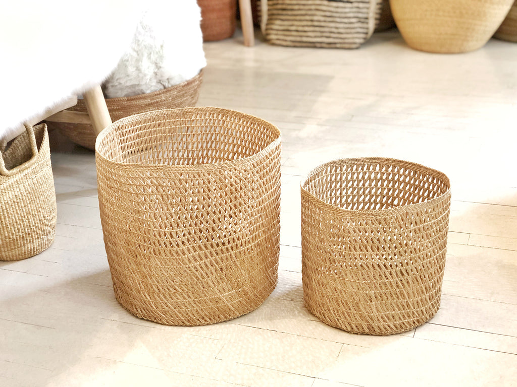 Handwoven Open Weave Basket - Small