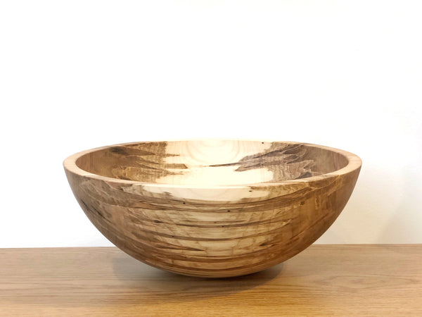"Solid Maple Wood Bowl - 17""D"
