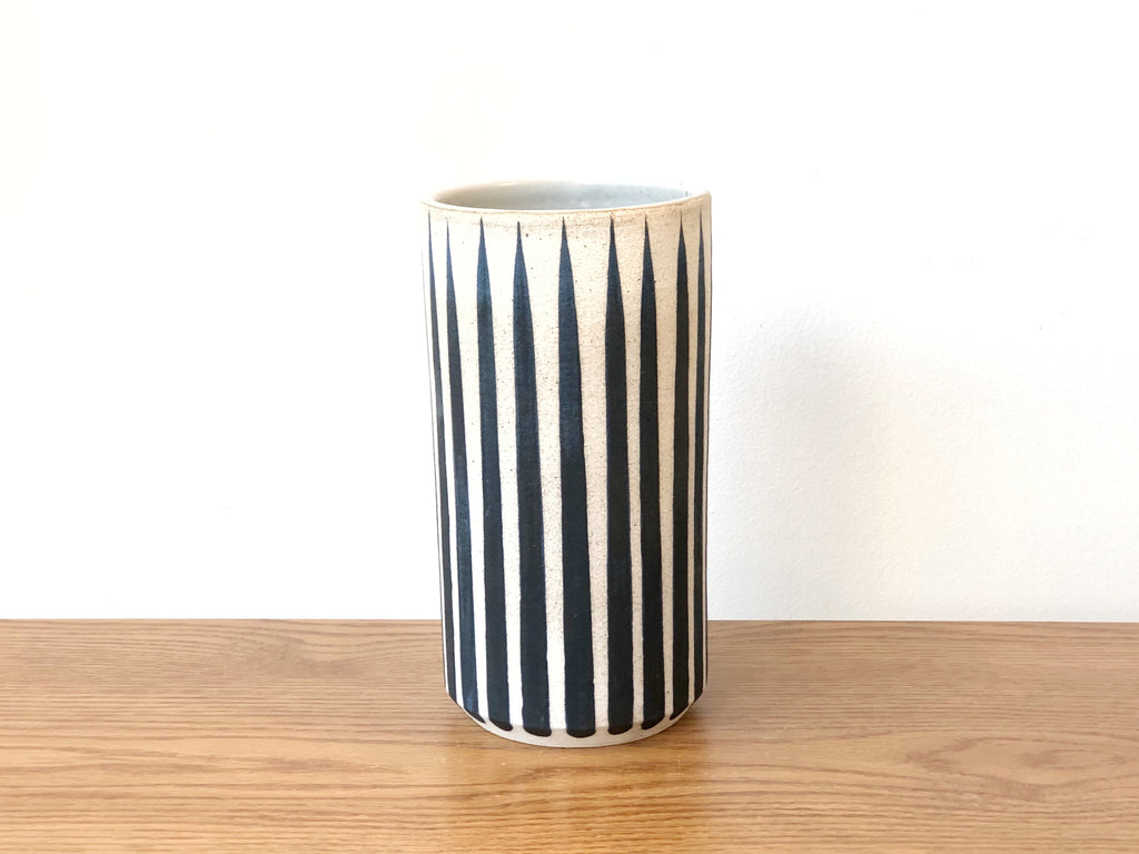 Hand-Painted Ceramic Vessel Tall