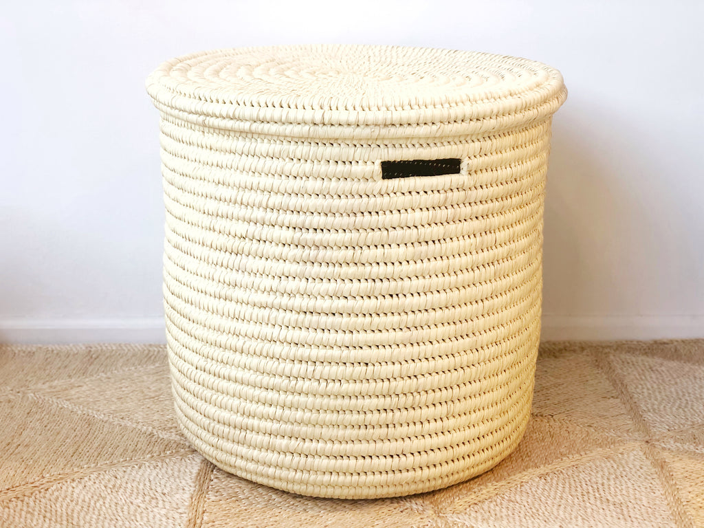 Handwoven Lidded Basket Large