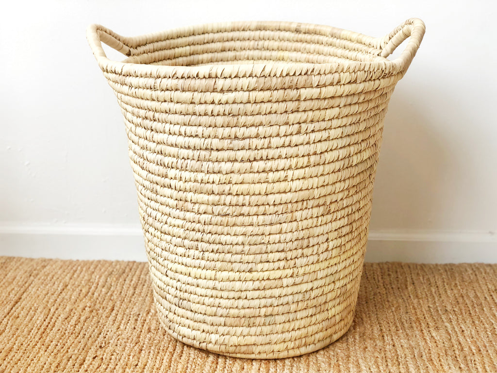 Handwoven Tall Basket
