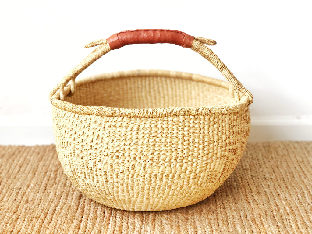 Handwoven Basket with Handle