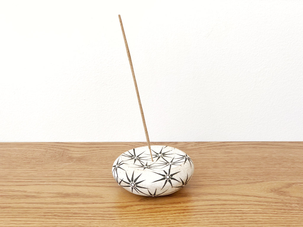 Hand-Painted Ceramic Incense Holder