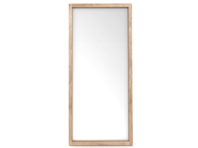 Large Oak Floor Mirror