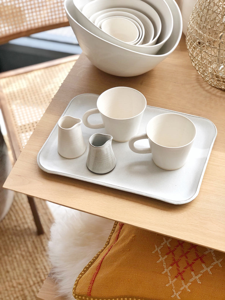 Ceramic White Tray Large