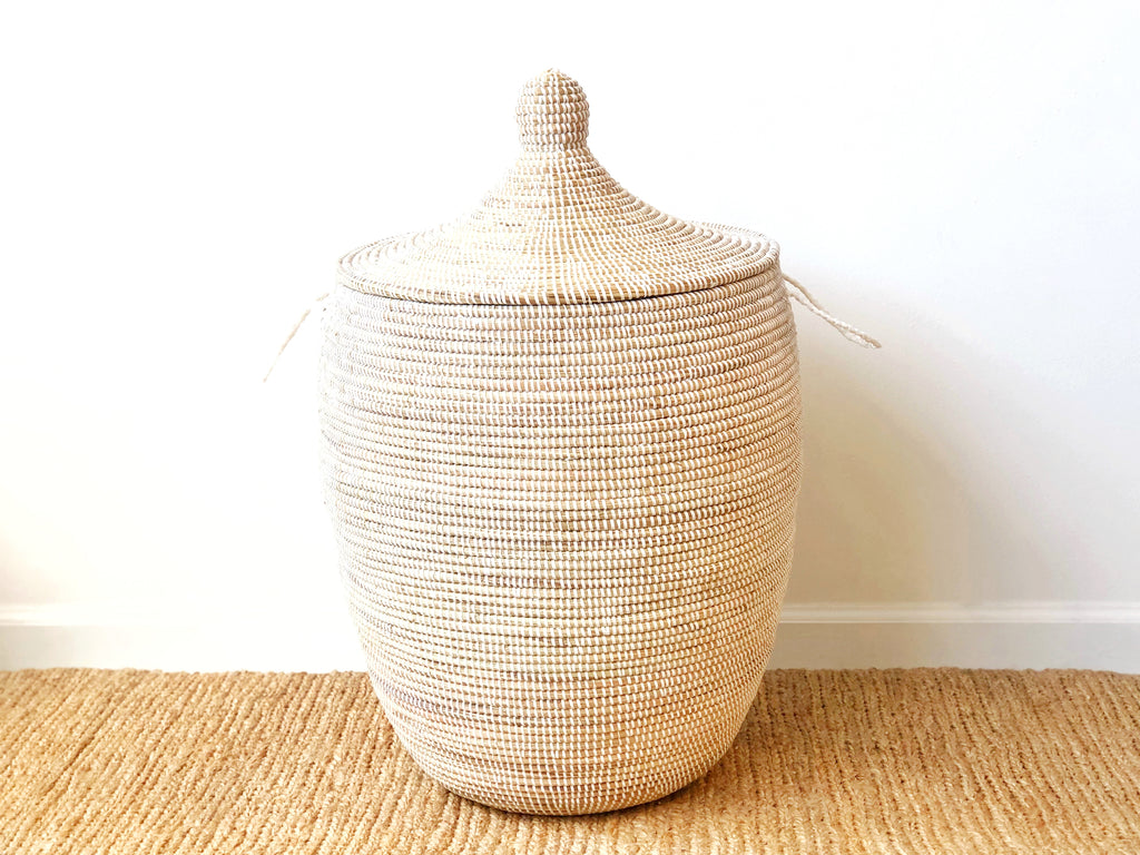 Handwoven Lidded Basket XL