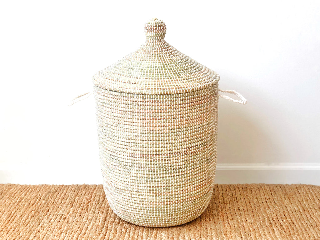 Handwoven Lidded Basket