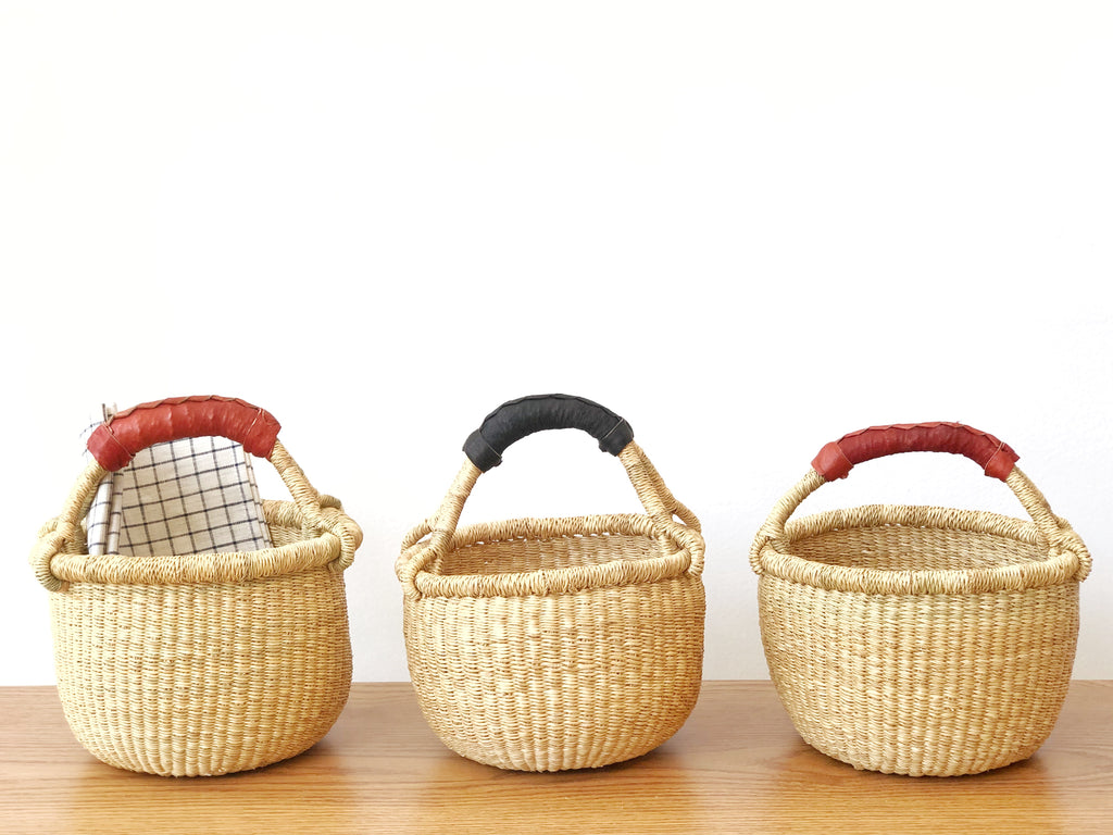 Handwoven Basket with Handle Mini