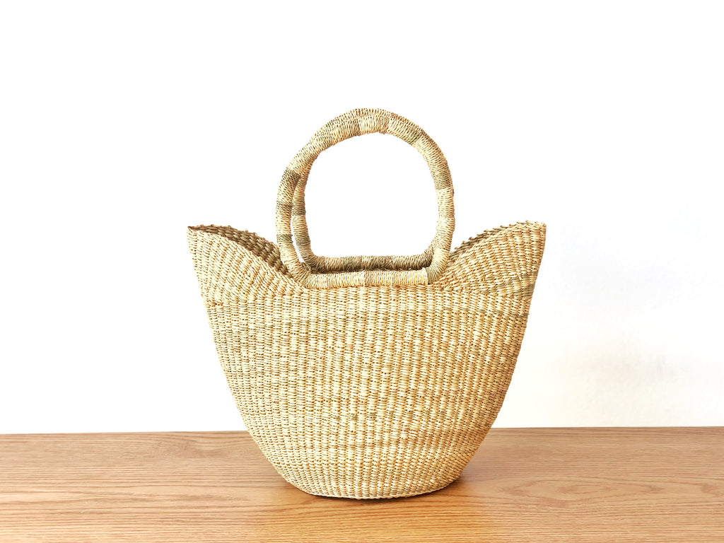 Handwoven Basket Tote Mini