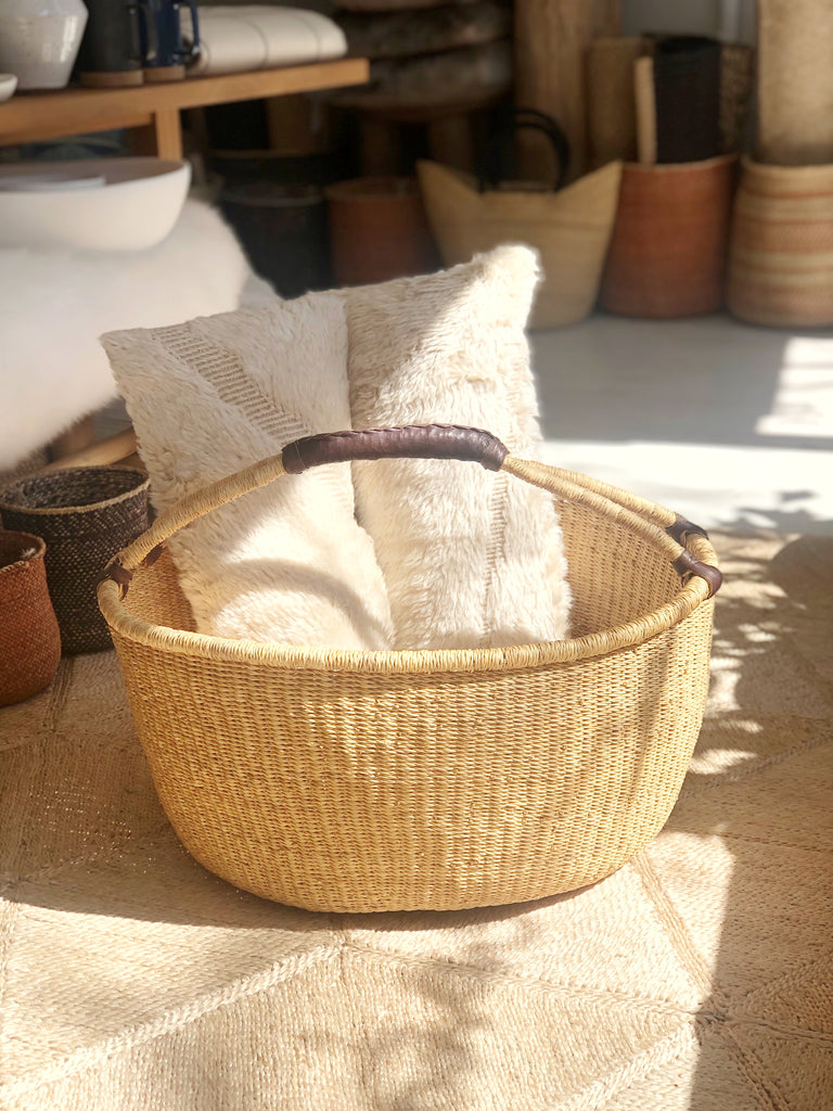 Handwoven Basket with Handle XL