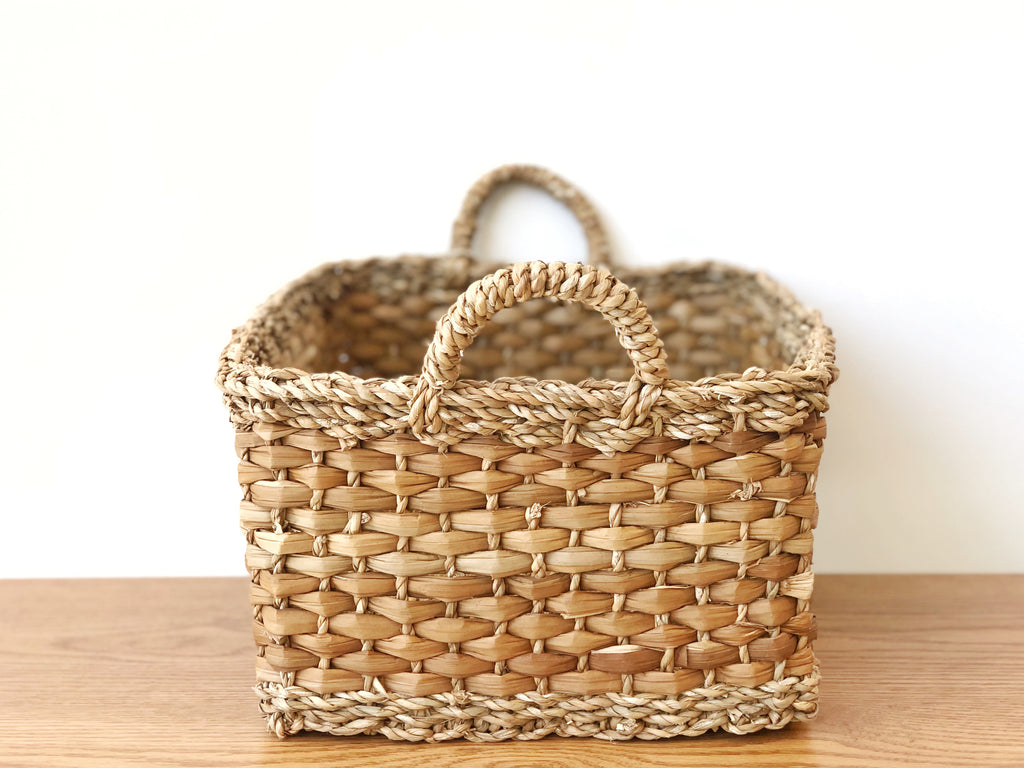 Handwoven Basket Rectangular Large