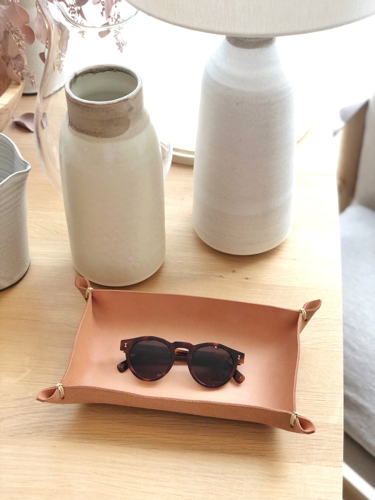 Leather Tray Vegetable Tan Large
