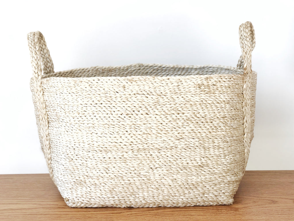 Handwoven Natural Jute Basket Small