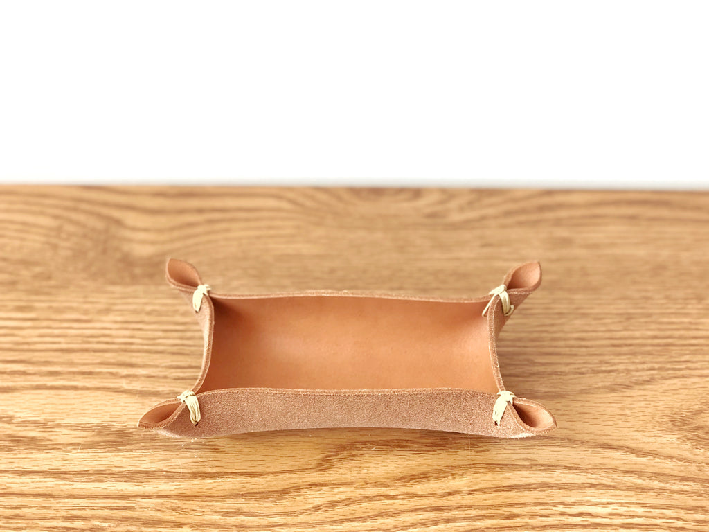 Leather Tray Vegetable Tan Small