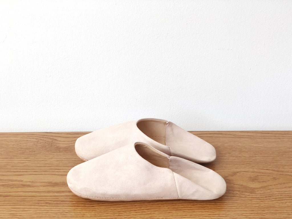 Suede Slippers - Pink