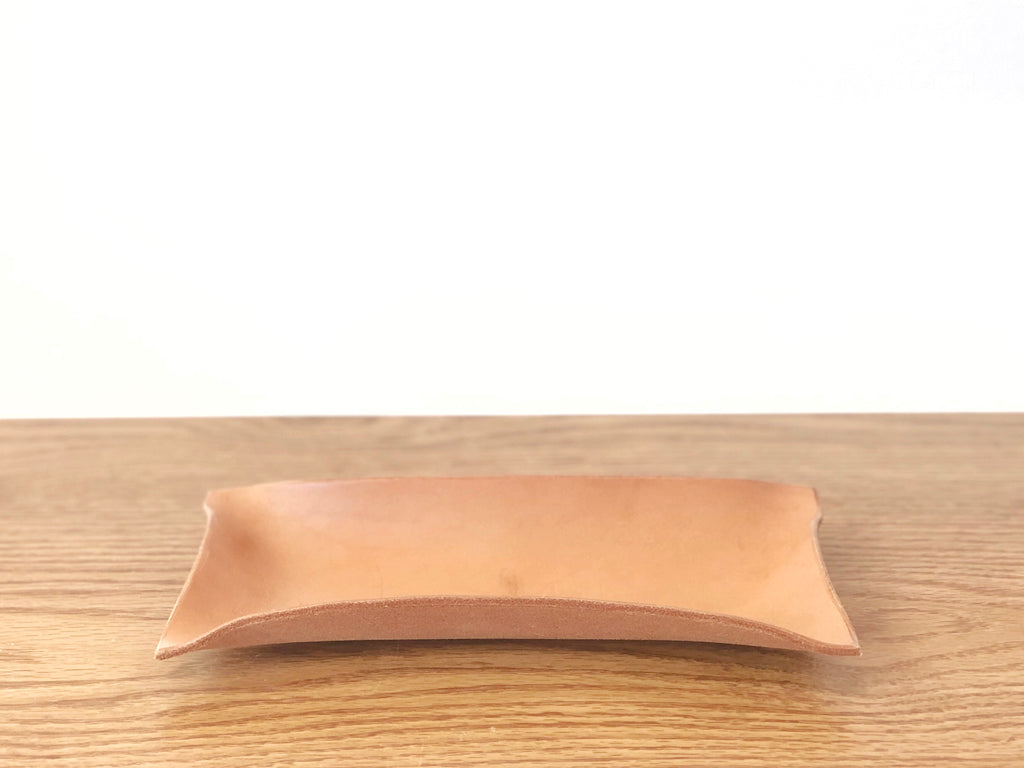 Leather Tray Vegetable Tan Hand-Shaped