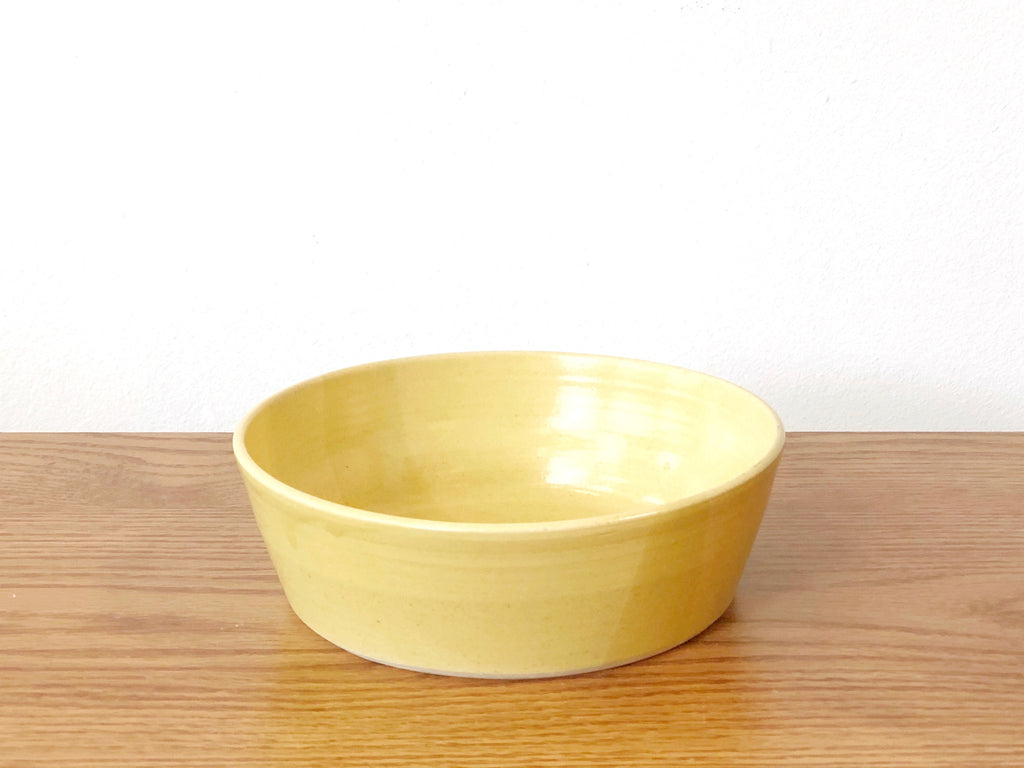 Ceramic Yellow Bowl Wide
