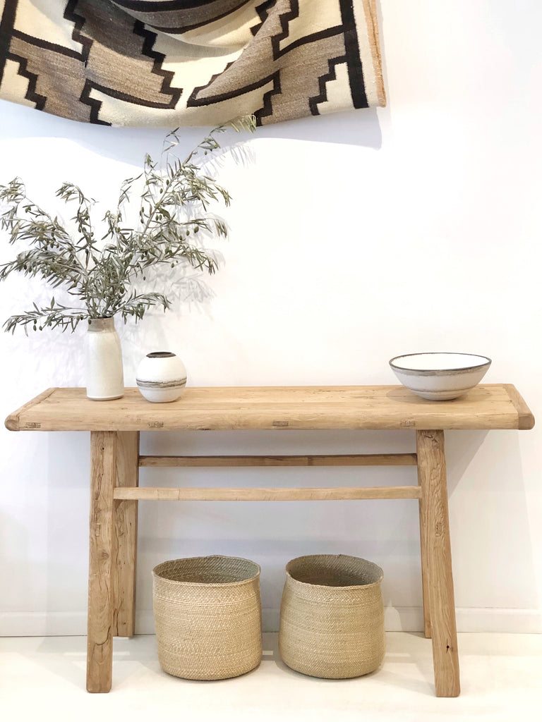 Wood Table Console