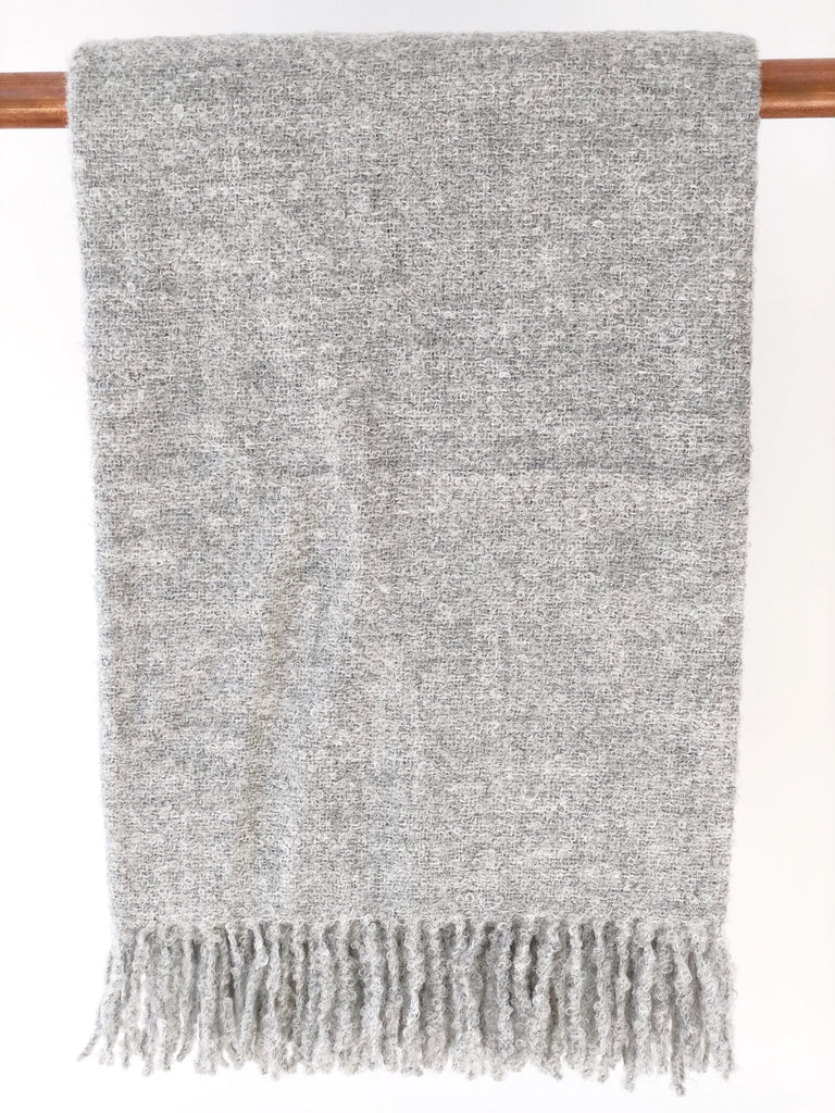 Alpaca Boucle Throw