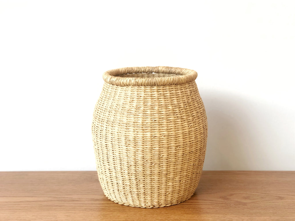 Handwoven Barrel Basket - Small