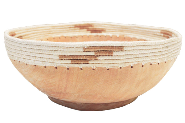 Hand-Carved Wood Bowl - Medium