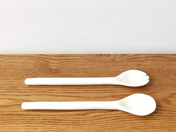 Hand-Sculpted Resin Salad Servers
