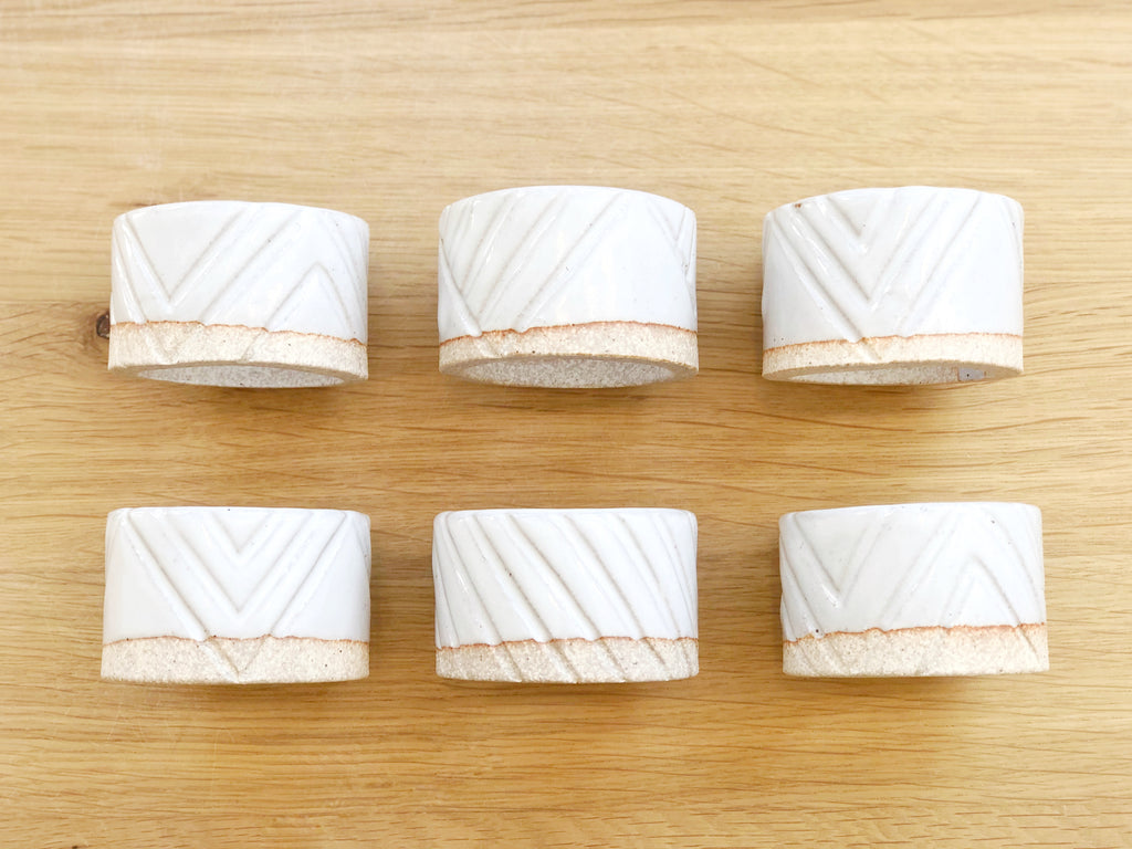 Ceramic Carved Napkin Ring