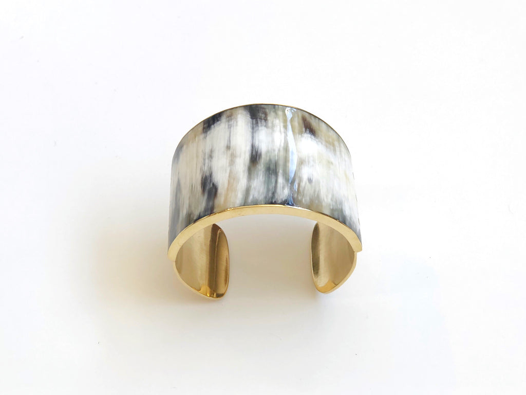 Gold Plated Horn Cuff