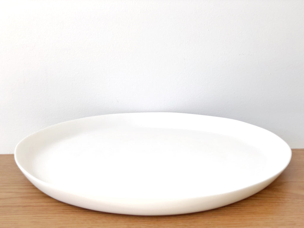 Hand-Sculpted Resin Large Round Tray