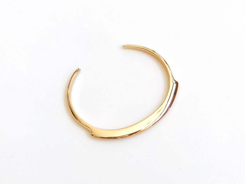 Gold Plated Brass Thin Cuff
